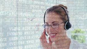 Códigos vestindo dos vidros e da relação do agente do centro de chamada video estoque
