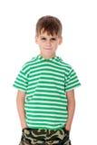 Cólera linda del muchacho Foto de archivo libre de regalías