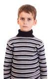 Cólera linda del muchacho Fotografía de archivo libre de regalías