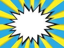 Cómic en blanco abstracto, fondo del arte pop stock de ilustración