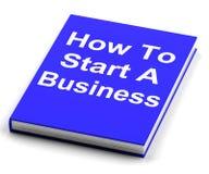 Cómo comenzar un negocio Book Shows Begin Company Imágenes de archivo libres de regalías
