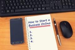 Cómo comenzar una guía en línea del negocio para el empresario imagen de archivo