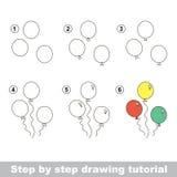 Cómo dibujar los globos Imágenes de archivo libres de regalías