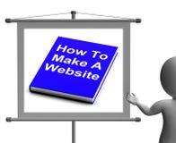Cómo hacer que un libro del sitio web firma diseño web de las demostraciones Fotografía de archivo libre de regalías