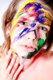 Cómo haga usted tiene gusto de mi uno mismo hecho mojado pinta maquillaje foto de archivo