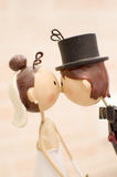 Cónyuges que se casan el bonbonniere de los favores Foto de archivo
