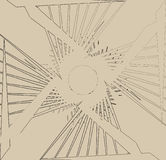 Cópia abstrata, textura com chanfro-como efeito Sumário aleatório ilustração stock