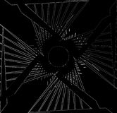 Cópia abstrata, textura com chanfro-como efeito Sumário aleatório ilustração do vetor