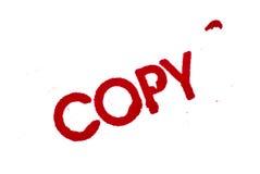Cópia: Cópia do carimbo de borracha isolada no branco Imagens de Stock