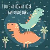 Cópia com dinossauros bonitos ilustração stock
