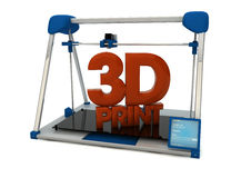cópia 3D Imagens de Stock Royalty Free