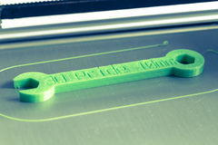 cópia 3d com luz - filamento verde Foto de Stock