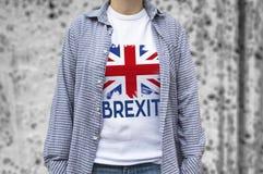 Cópia da bandeira de Reino Unido no t-shirt Imagens de Stock