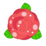 Cópia da ilustração do vetor de Rose Bud para o t-shirt ilustração stock