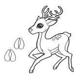 Cópia da pata com vetor da página da coloração dos cervos Fotografia de Stock