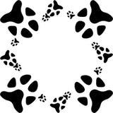 Cópia da pata do cão ilustração stock
