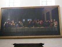 Cópia de Leonardo a Dinamarca Vinci Fresco em Turin Itália Imagens de Stock Royalty Free