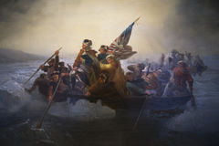 Cópia de Washington Crossing o Delaware por Emanuel Leutze, Abbot Hall, Marblehead, Massachusetts, EUA Imagem de Stock Royalty Free