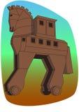 A cópia do cavalo de madeira de Troy em Canakkale, Turquia Fotografia de Stock