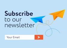 cópia do Email-subscrever-formulário ilustração royalty free