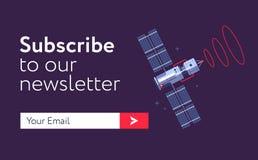 cópia do Email-subscrever-formulário ilustração do vetor