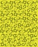 Cópia do leopardo no fundo amarelo ilustração do vetor