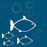 Cópia do mar dos peixes Imagens de Stock Royalty Free