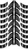 Cópia do pneumático imagem de stock