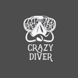 Cópia do t-shirt Mergulhador louco ilustração royalty free