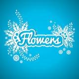 Cópia floral bonita Inscrição floral Logotipo para o florista, estufa, jardim, florista Imagens de Stock