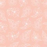 Cópia floral Teste padrão sem emenda botanical ilustração stock