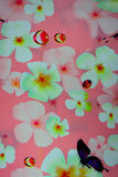 Cópia havaiana da selva feita do algodão textured Fotos de Stock Royalty Free