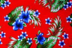 Cópia havaiana da selva feita do pano de algodão textured Foto de Stock Royalty Free