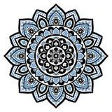 Cópia indiana boêmia da mandala Estilo da tatuagem da hena do vintage Foto de Stock Royalty Free