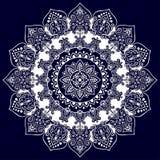 Cópia indiana boêmia da mandala Estilo da tatuagem da hena do vintage ilustração royalty free