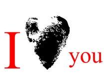 Cópia preta do coração Imagem de Stock Royalty Free