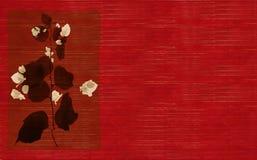 Cópia preto e branco da flor no vermelho ilustração stock
