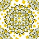 Cópia sem emenda de Mandala Stylized Warping Paper Pattern ilustração royalty free