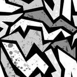 Cópia urbana do teste padrão do teste padrão sem emenda dos grafittis do grunge ilustração do vetor