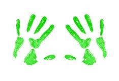 Cópia verde da mão Fotografia de Stock