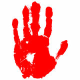 Cópia vermelha da mão Fotografia de Stock Royalty Free