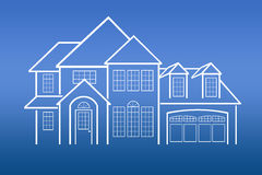 Cópias azuis da casa