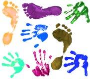 Cópias das mãos do menino Imagens de Stock