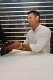 Cópias de assinatura de Dan Carter de seu livro Foto de Stock
