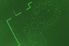 Cópias do verde ilustração stock