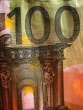 Cópias macro das belas artes do papel de parede do fundo do dinheiro fotografia de stock royalty free