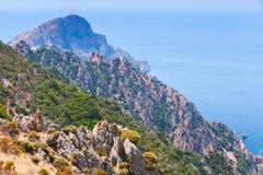 córcega Corse-du-Sud, Piana Paisaje imagen de archivo libre de regalías