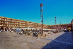 Córdoba - el cuadrado de la Corredera de la plaza Andalucía España imagen de archivo libre de regalías