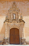 Córdoba - el portal barroco de la iglesia Real Colegiata de San Hipolito a partir del año 1730 de Juan de Aguilar Fotos de archivo