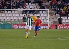 CÓRDOBA, ESPAÑA - 13 DE ENERO: kiko Olivas W (22) en la acción durante la liga Córdoba del partido (W) contra Numancia (r) (1-0) e Fotos de archivo libres de regalías